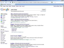 Justin Bieber Google Results by coolplayrs