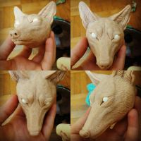 Wolf head - doll by Kay-Ra