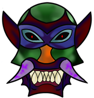 Evil Mask Vector by DraconianQueen