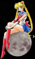 Sailor Moon w background by ykansaki