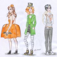 Halloween HPgirls by Dinoralp