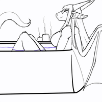 'Relaxing bath' Giftart by Demyxia by ManicMindsStudio
