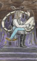 Labyrinth - Sarah on Jareth's lap by gagambo