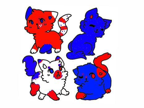 4th of July adopts-2 points each or 2 for 3 points by cookiethekitten