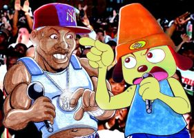 50 Cent VS Parappa the Rapper by GabeLamberty