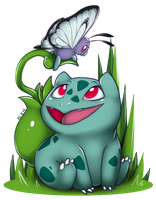 Bulbasaur And Butterfree by CNat