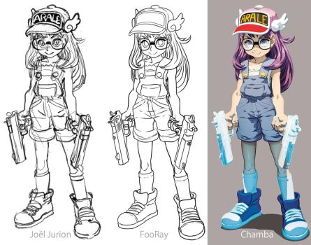 Parts of Arale Norimaki by theCHAMBA