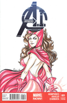Scarlet Witch blank cover by AerianR