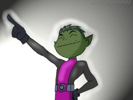 Beast Boy's Pose by satanspawn80