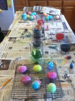 Making Easter Eggs! :D by owls1999