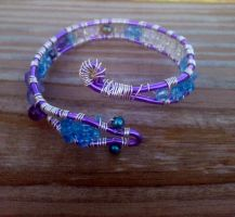 Beaded serpent bracelet by WyckedDreamsDesigns