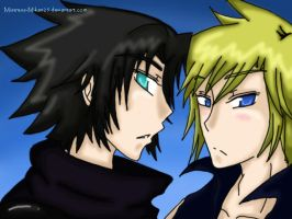 Zack and Cloud --f0r chimneey by Sidney-Chuu