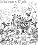 Cthulhu colouring page by welshpixie on deviantart for Cthulhu coloring pages
