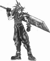 Cloud Strife by thirdeyeblind