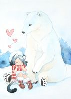 The polar bear by Rozenng