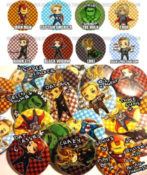 Avengers: buttons by betrayal-and-wisdom