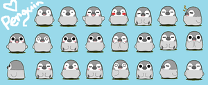 Penguins by Shazami