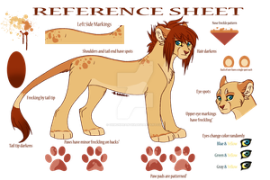 Megna Reference Sheet- Lionessona by DemonHeartXX