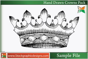 Hand Drawn Crowns-Brush by Stockgraphicdesigns
