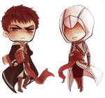 Chibi Stamp Assassin's Creed by Moonzetter