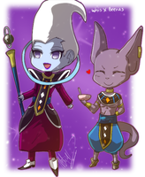 Lord Beerus And Whis Chibis :D by illiciumesca