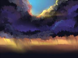 stormy sunset by kaminary-san