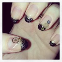 Steampunk Nails by megs2606
