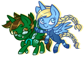 PC - MD and The Champ by CloudBrownie