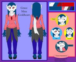 Commish - Grace Goldheart Ref by shaloneSK