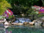 Garden with waterfall stock 12 by FairieGoodMother
