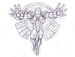 Ironman Lineart by PsychedelicMind