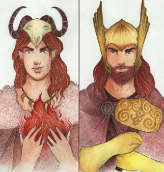 Thunderer and Trickster by Annathelle26