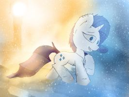 Rarity Snow by FuzzyFox11