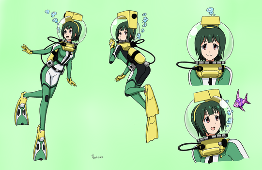 Kotori Otonashi LAMA Scuba - Color Commission by The-Sakura-Samurai
