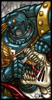 EMPEROR'S TAROT - The Space Marine by NicolasRGiacondino