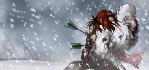 Blood on the pale snow by LaDarkA117