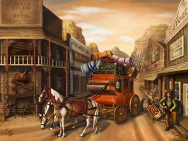 The stagecoach has arrived by maria-istrate