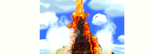 Fire Mountain (Digital 'Painting') by scriptureofthescribe
