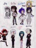 DGM Chibis :3 coloured by Sallylla