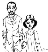 Lee Everette and Clementine by femjesse