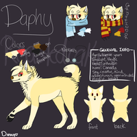 Daphy Fursona Ref by crispyspringrolls