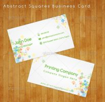 Abstract Squares Business Card by flash-infinity