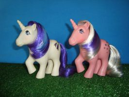 My Little Pony Toy 80's -  Glory and Twilight by GraphicPlanetDesign
