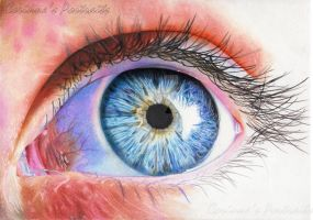 Oeil bleu/Blue eye by Sadness40
