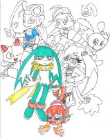 klonoa and his friends by sheezy93