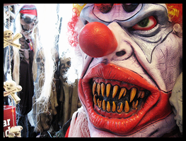 Scary, Flesh-Eating Clown by kamikazequeer