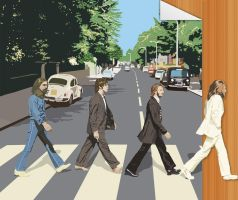 Beatles Page Walk Off by justamiller24