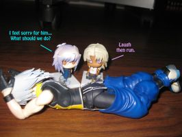 Ryou Feels Sorry For Riku by lizabey