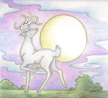 Sliver Stag by Spiralpathdesigns