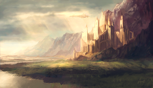 Caer Elysa - Holy City of Paladins by Lionel23